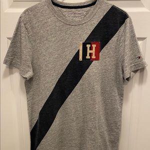 Vintage Tommy Hilfiger Mens Grey T-shirt - Size S